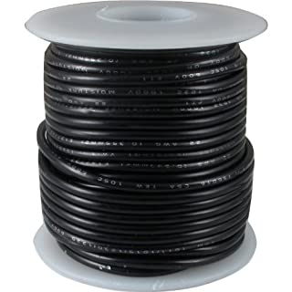 Wire - Hook-Up, 22 AWG, 50' roll, Black by AmplifiedParts