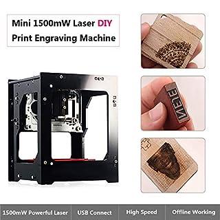 Laser Graviermaschine Drucker 1500mw Laser Graviermaschine DIY USB CNC Router Schneiden Carver Offline-Betrieb für Kunst Handwerk Wissenschaft für Win 7/8/10/ XP, iOS 9.0, Android 4.0 mit Schutzbrille