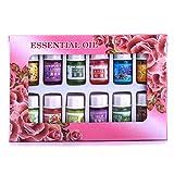 1Set von Essential Öl, 12Flaschen 3ml Natur Aroma Duft Ätherisches Öl Set für Aromatherapie Luftbefeuchter wasserlöslich