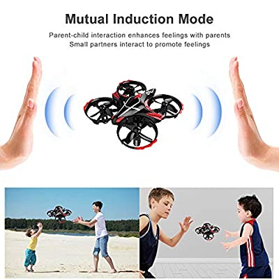 Mini Drone for Kids, RC Drone Quadcopter (Toss/Shake Take Off, Gesture Controlled, Altitude Hold, 3D Flips, Headless Mode Easy Fly) Great toy for Kids Beginner