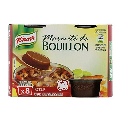 Knorr Marmite de Bouillon Bœuf 8 Capsules 224 g - Lot de 4