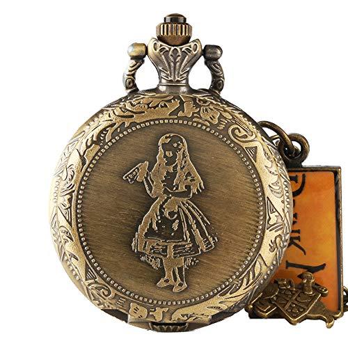 (Alice im Wunderland Taschenuhr, Retro-Hasen-Getränke, Vintage-Halskette, Halskette, Herren)