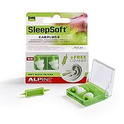 Alpine SleepSoft Ohrstöpsel - Blockiert Schnarchen und verbessert den Schlaf - Soft-Filter zum Schlafen - Bequemes, hypoallergenes Material - Wiederverwendbare Ohrstöpsel