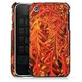 DeinDesign Coque Compatible avec Apple iPhone 3Gs Étui Housse Feuilles Orange Falltrend