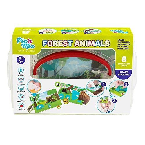 Picnmix Animales del bosque Puzzle de animales Juguetes Educativos para niños 3 años a 7 años Juegos Educativos