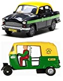 #1: Playking Centy Combo of Auto & Ambassador Taxi - Pull Back Action, Color May Vary