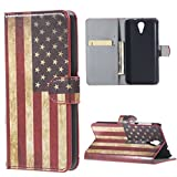 HTC Desire 620 Case - Flip Cover Leder Tasche Case