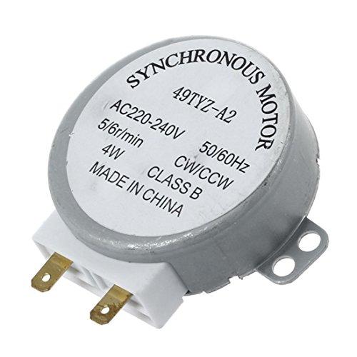 SODIAL(R) AC 220-240V 50 / 60Hz 5 / 6RPM 4W Motor sincrono de la plataforma giratoria para el horno de microonda