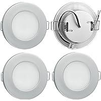 Lot de 4 Spot Encastrable 12V LED Extra Plat Plafonnier Encastré Lampe de Plafond Rond Dimmable Blanc chaud 3000K pour…
