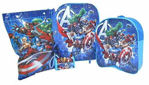 Marvel Avengers 4 Stück Gepäck für Kinder Set