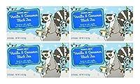 Trader Joe's Vanilla & Cinnamon Black Tea, Quantity = 4 Boxes (80 Tea Bags)
