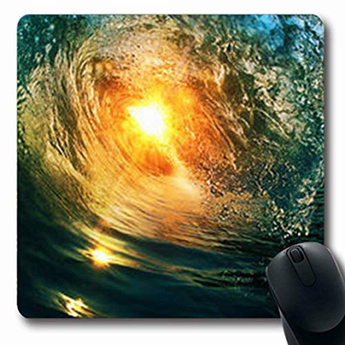 Luancrop Mousepads Breaking Surfing Ocean Section Wave Schließen Natur Tahiti Oblong Gaming Mousepad rutschfeste Gummimatte