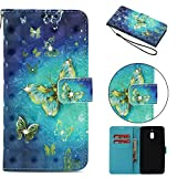 Nokia 2.1 Case 2018, Shockproof PU Leather Flip Wallet