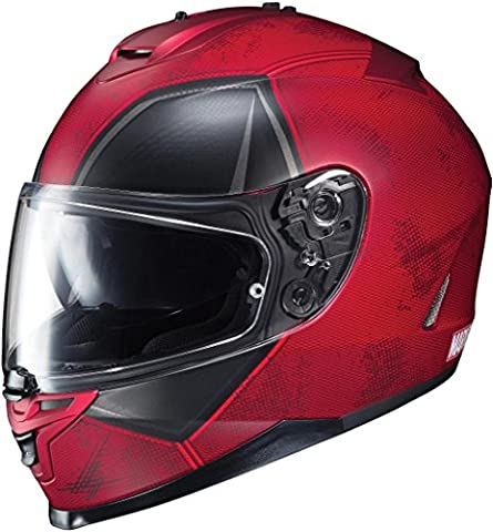 HJC IS-17 Marvel Series Deadpool Limited Edition Motorcycle Helmet Red MD