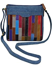 Shankar Produce -Fashionable Women's Canvas Sling Bag - Stylish Bag - Designer Bag - Light Blue