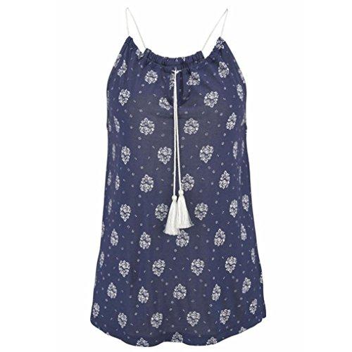 Manadlian ♥ Damen Tank Top ♥ Frauen Sommer Print Tank Tops (2XL, Blau)