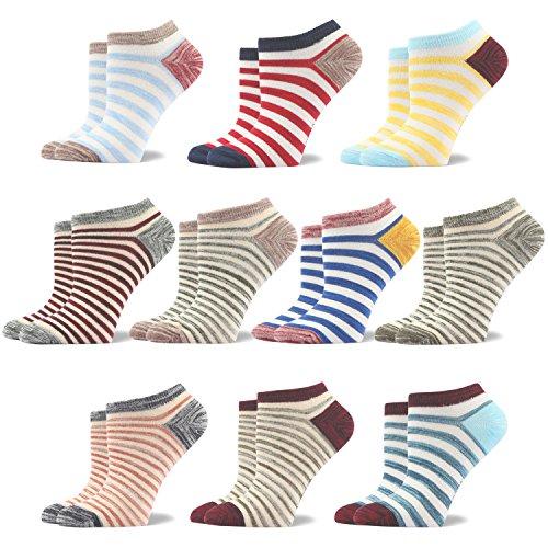 Damen Niedrige Socken Rutschfest Baumwolle 10 Paar (EU 35.5-40/UK 3-7, (Schuhe Kitty Hello Heels High)
