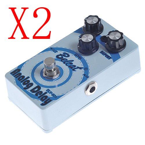 Kmise Belcat DLY-503Analog Delay cálido analógica tono circuitos FX doble Pedal Azul