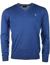 Gant Cotton Wool V-Neck-Suéter Hombre