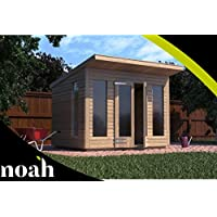 Noah Garden Rooms Roseberry Summerhouse - Cobertizo de jardín de Madera Resistente, 25,4