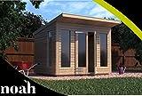 Caseta de verano de madera para jardín, muy resistente, 2,4 x 1,8 m (personalizable)
