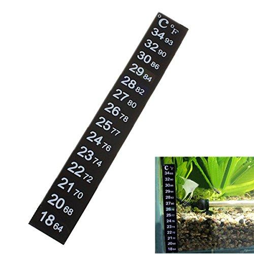 FOCUSPET Aquarium LCD PRÄZISIONS Thermometer Flüssigkristall Klebestreifen Terrarium NEU