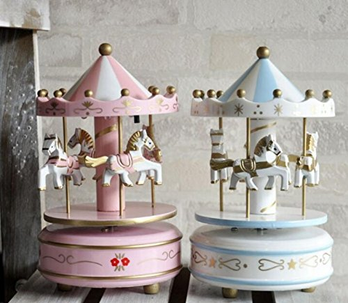 n Merry-Go-Round Carousel Classic Music Box Kids Children Girls Christmas Birthday Wedding Gift Toy ()