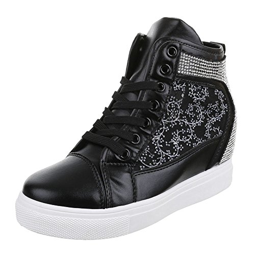 Ital-Design , Chaussures pour les loisirs  femme Noir - Noir