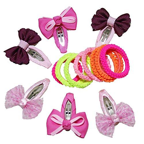 5 Boîtes de papillon ruban Fleur épingles Petite Pique à cheveux Petite Pique à cheveux pour bébé (Y Compris 6 pcs) (Zouari 8 pcs) et LED Ershao 1 pcs