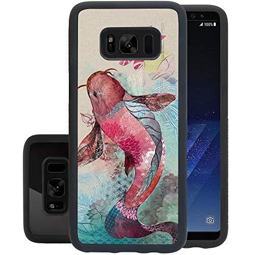 Galaxy Mandalas, custodia antiurto per Samsung Galaxy S8, in morbido poliuretano termoplastico, design personalizzato per Samsung Galaxy S8, colore nero Samsung Galaxy S8 Koi Fish