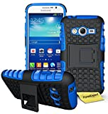 FoneExpert Samsung Galaxy Grand Plus - Etui Housse Coque ShockProof Robuste Impact Armure Hybride Béquille Cover pour Samsung Galaxy Grand Plus / Grand Neo + Film de Protection d'Ecran (Bleu)