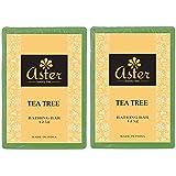 Aster Luxury Tea Tree Handmade Soap - Set of 2