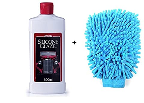 Amway Silicone Glaze Car Polish 500ml Free Cleaning Micro Fiber