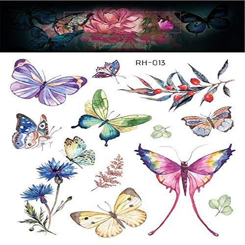 adgkitb Dreidimensionale Schmetterling Tattoo Aufkleber Traum Schmetterling Persönlichkeit Arm zurück Tattoo 13 15x10.5cm