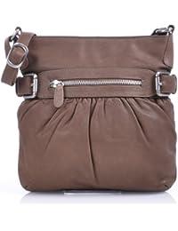 MASQUENADA, Cntmp, Leder Handtaschen, Damen Umhängetaschen, Crossover-Bags, Crossbags, Schultertaschen, 24x25x6cm (B x H x T)