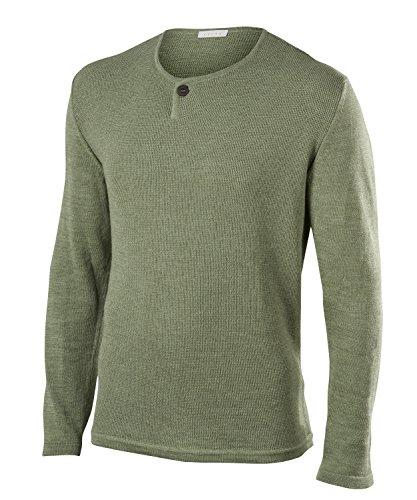 FALKE Herren Fashion M PL Pullover, Grün (Grass 7431), M