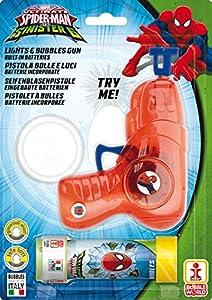 Dulcop - 005086 - Pistola en las burbujas y luz con el tubo en Soap - Spiderman - 60 Ml, Colores Surtidos