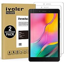VGUARD Pack de 2 Verre Trempé pour Samsung Galaxy Tab A 8.0 Pouces 2019 (SM-T290 / SM-T295), Film Protection en Verre trempé écran Protecteur Vitre - Anti Rayures - Ultra Résistant Dureté 9H