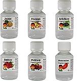 6 Stück je 100ml PREMIUM E-LIQUID für E-Zigarette Ananas - Fruchtmix - Heidelbeere - Himbeere - Wassermelone - Waldfrucht (0,0 mg Nikotin) VanAnderen®