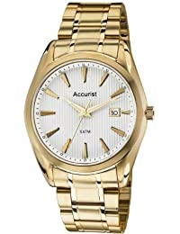 amazon co uk accurist watches outlet watches accurist mb1036g mens champagne and gold tone bracelet watch