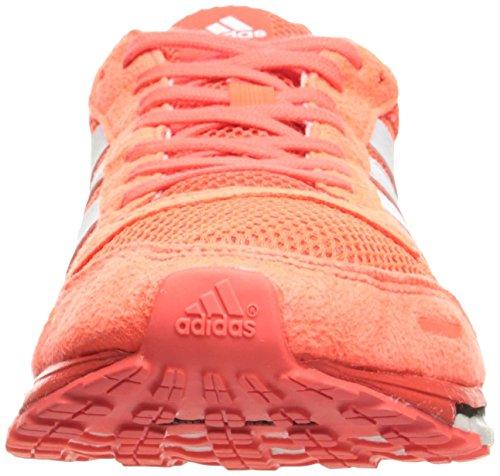 Adidas Adizero Adios 3 Chaussures de course, Sun Glow jaune / blanc / rouge choc, 6 M Us Rouge