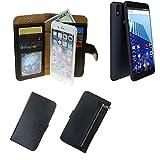 K-S-Trade Für Archos Access 57 Schutz Hülle Portemonnaie Case Phone Cover Slim Klapphülle Handytasche Schutzhülle Handyhülle schwarz aus Kunstleder (1 STK)