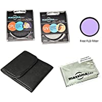 Maxsimafoto - Professional 52mm Filter Set, UV, CPL with added FLD for Panasonic Lumix DMC-G5, DMC-GF5 Cameras with 14-45mm, 14-42mm or 45-200mm lens, Good quality glass!