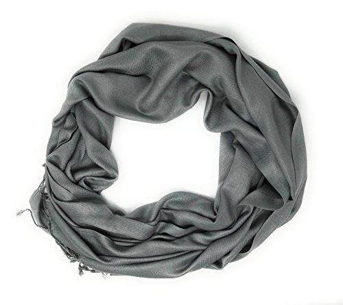 Indian accessories Clasico Pashmina, Gris, Única para Mujer