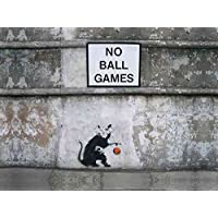 Banksy Photo no ball games rat Print A4 10x8 Graffiti Grafitti Street Art Poster