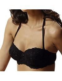 DORINA fashion, Balconett BH mit abnehmbaren Trägern auch als Neckholder, vanille oder schwarz