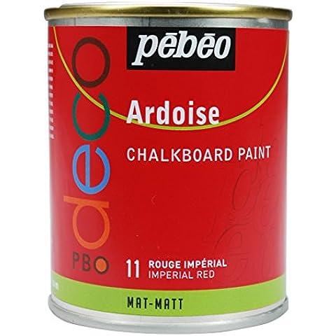 Pebeo - Pintura efecto pizarra (250 ml), color rojo