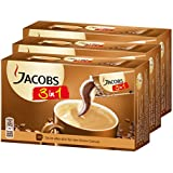 Jacobs 3en1 Café soluble, Lot de 3, 3 x 10 Portions individuelles