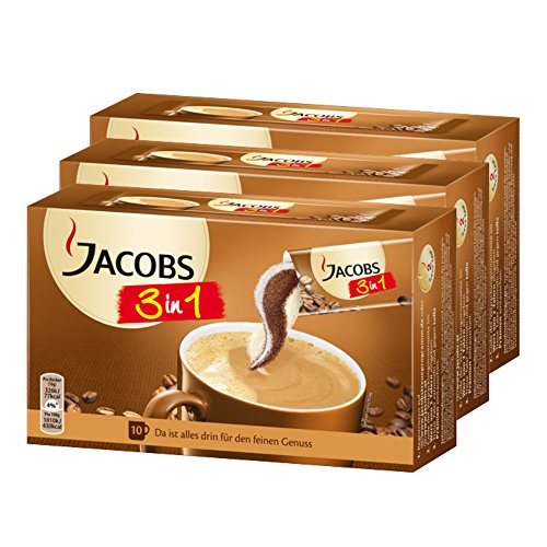 Jacobs 3in1 Caffè Solubile, Istantaneo, Accessori Bar,