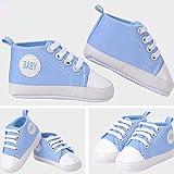 Blue Vessel Nette neugeborene Baby-Mädchen-Schuhe Säuglingskleinkind Prewalker weiche Sohle Anti-Rutsch (11cm, Himmelblau)